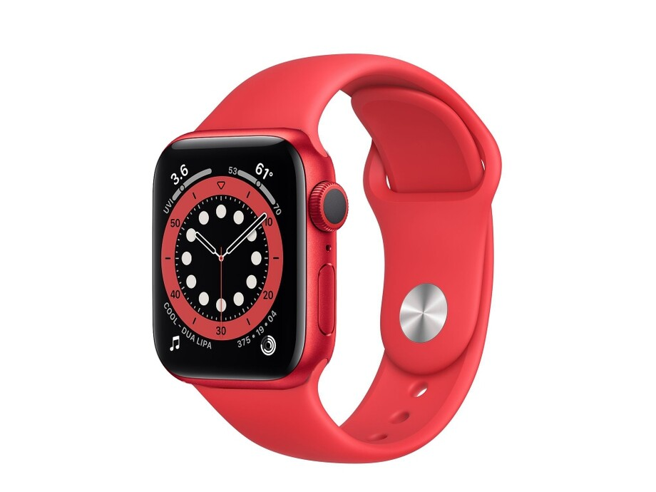 Apple Watch Series 6 GPS, 44mm PRODUCT(RED) Aluminium Case with PRODUCT(RED) Sport Band - Regular 0