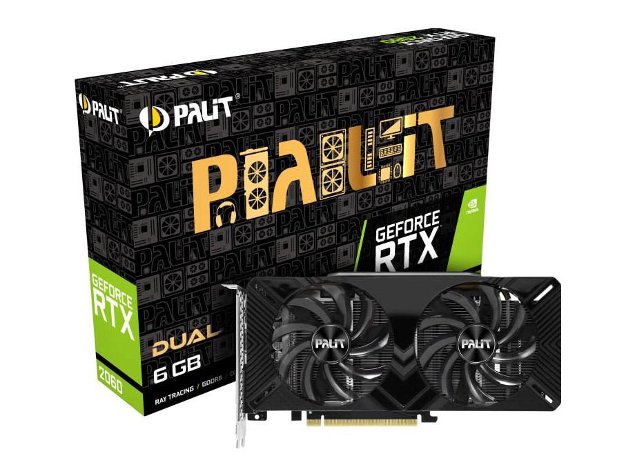 Videokarte VGA Palit RTX2060 6GB DualGDDR6,HDMI,DP,DVI 0