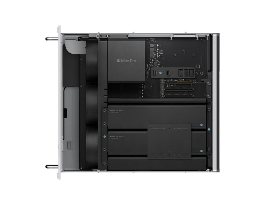 MacPro Rack 3.5GHz 8-core Intel Xeon W/32GB/580X/256GBSSD/Rack rails/MM2+MK/INT 3