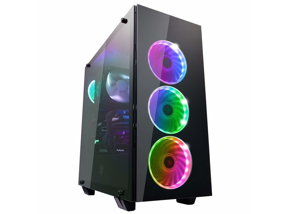 Korpuss Fortron CMT510 PLUS Glass ATX 4 RGB FAN POC0000070 0