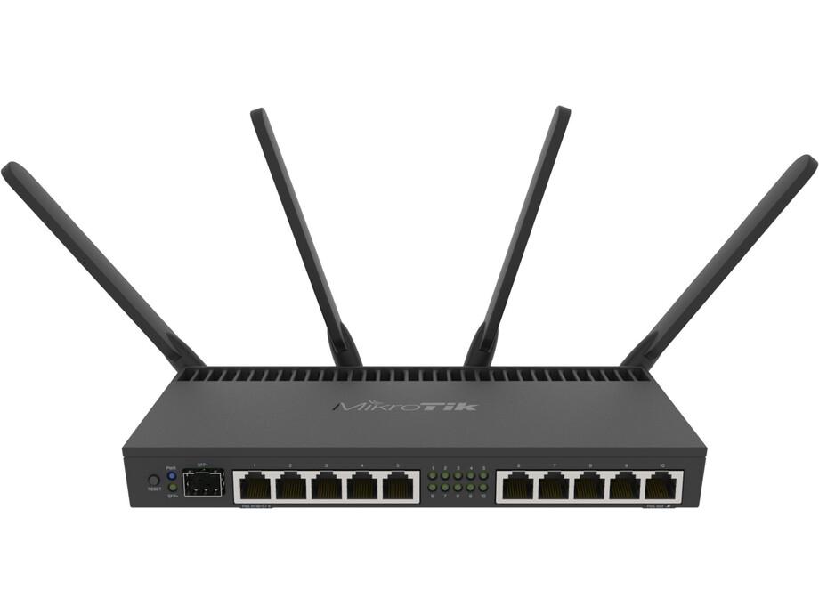 Bezvadu maršrutētājs MikroTik RB4011iGS+5HacQ2HnD-IN Wireless Router (rūteris) 0