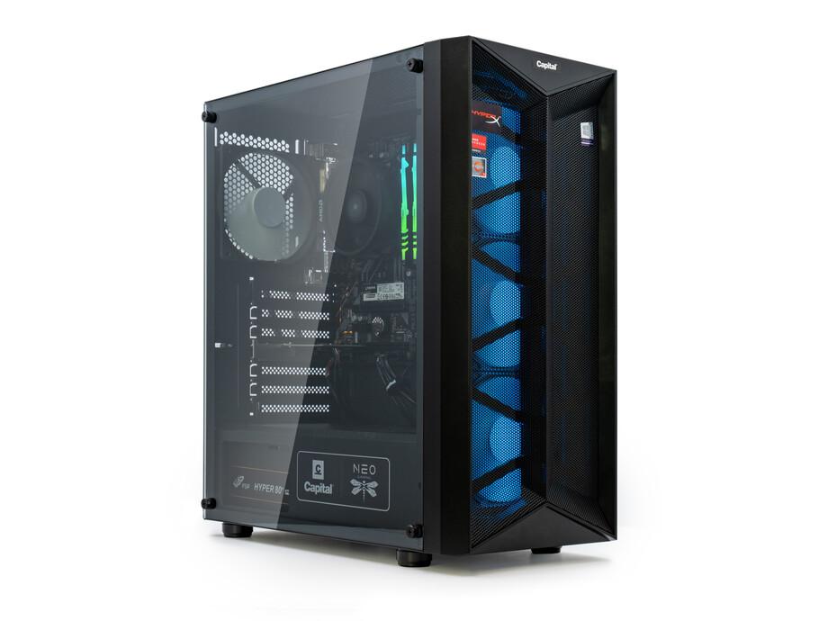 Dators Capital NEO X Study&Play /R3-4300GE/16GB/Vega6/500GB/650W/WF/BT/Win10 0