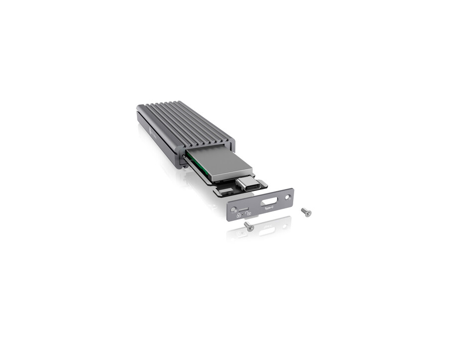 Ārējā cietā diska korpuss IcyBox USB Type-C aluminium enclosure for M.2 NVMe SSD (non sata) 1