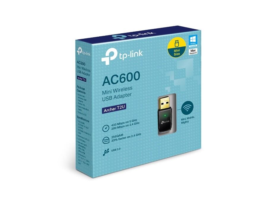Bezvadu adapteris TP-Link Archer T2U adapter USB Wireless 3