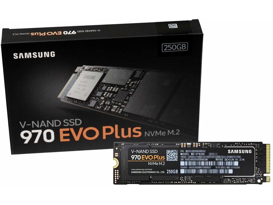 SSD 250GB - Samsung 970 EVO Plus NVMe M.2 PCIe R/W 3500/2300MB/s 4