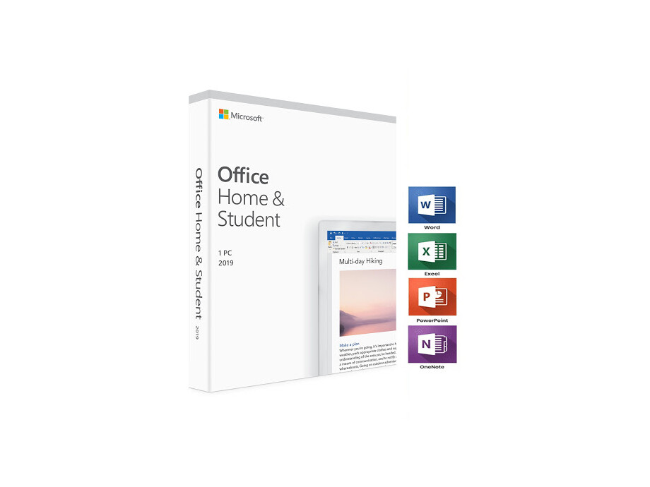 Microsoft Office Home and Student 2019 English EuroZone Medialess 0