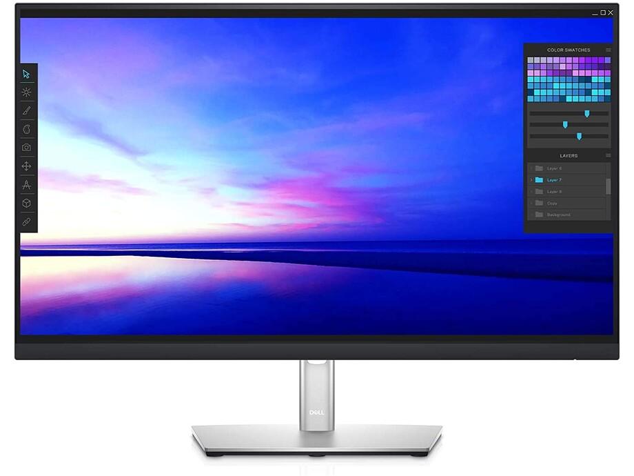 """Monitors Dell P2721Q 27"""" UHD 3840x2160/IPS/USB-C/16:9/8 ms/350 cd/m²/HA/Tilt/Swivel/Pivot/HDMI/DP/Black-Silver/3Yr 0"""